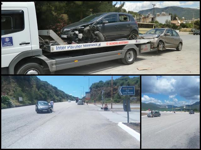 Πλαγιομετωπική σύγκρουση αυτοκινήτων στην είσοδο της Πάργας!