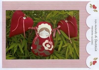 Moldes decoração natalina de feltro