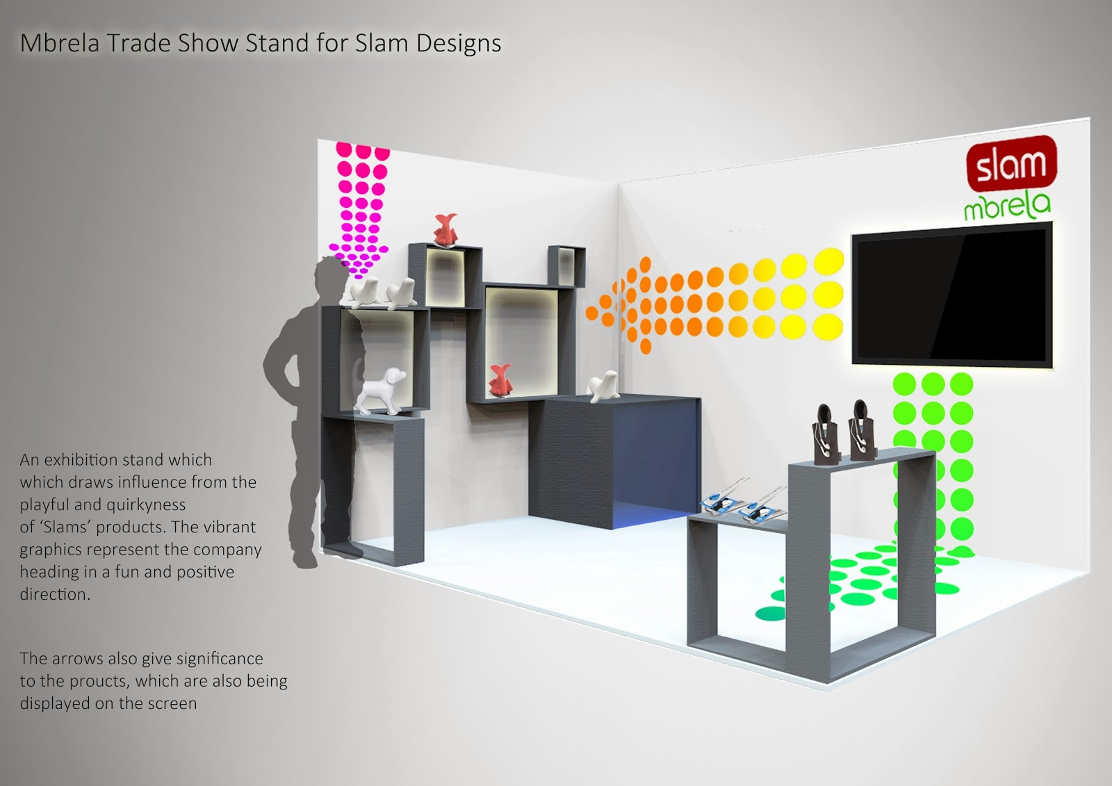 Modern Exhibition Stand Up : Mbrela exhibition stand to showcase slam products