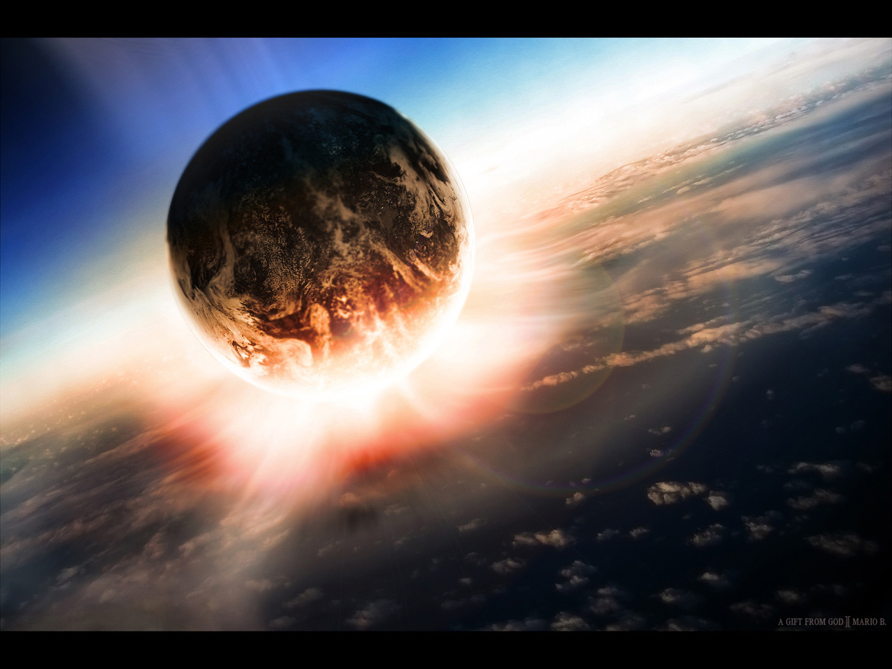 Vacation: cool 3d space wallpapers