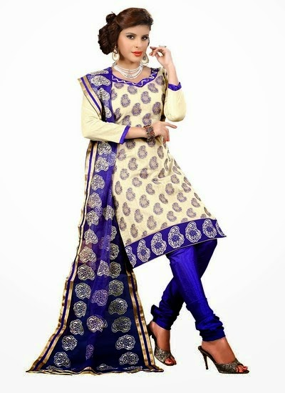 Rakshi Special Chanderi Churidar Suits 2014