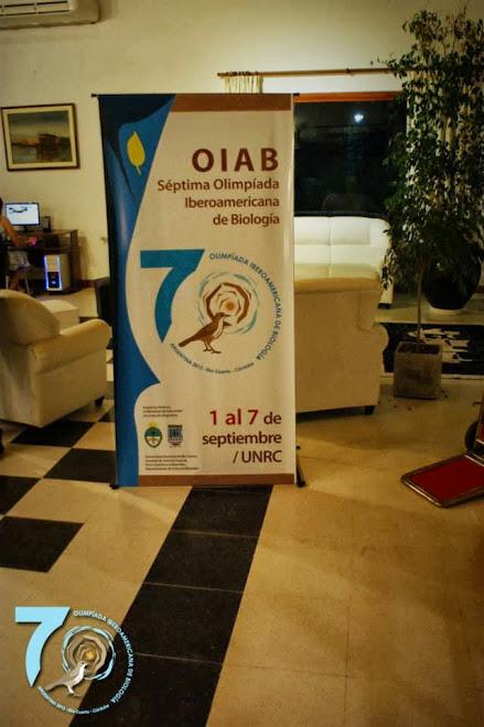 VII OLIMPIADA IBEROAMERICANA DE BIOLOGIA OIAB RIO CUARTO ARGENTINA 2013.