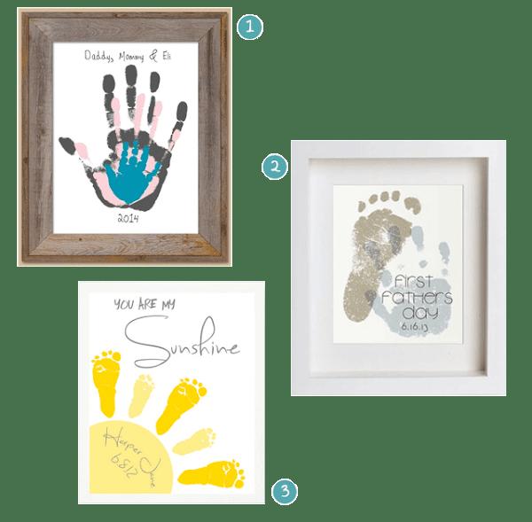 Regalo para el Día del Padre con huellas impresas | Manualidades