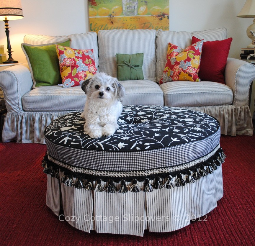 sew own with collection round cover sewing my pattern ottoman slipcover in your style