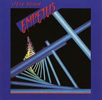 Portada del álbum Empetus (1986), del músico californiano Steve Roach basada en Trikha, una escultura de neón del artista Michael Hayden