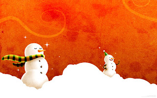Snowman Illustration HD Wallpaper