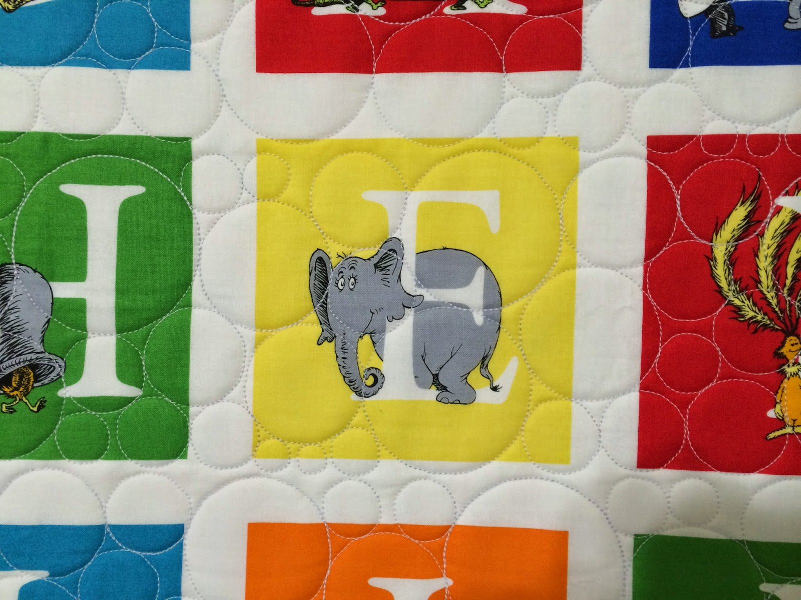 Mette Brown's ABC Dr. Seuss Quilt