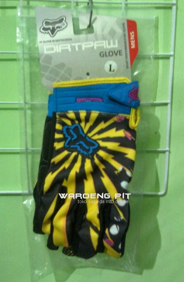 Jual Sarung Tangan Kaos Tangan Fox Kuning Sepeda Gunung mtb mountain bike
