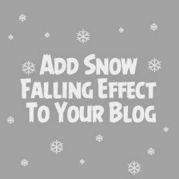 Snow Falling Effect For Blogger