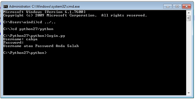 Menjalankan python programming di command prompt