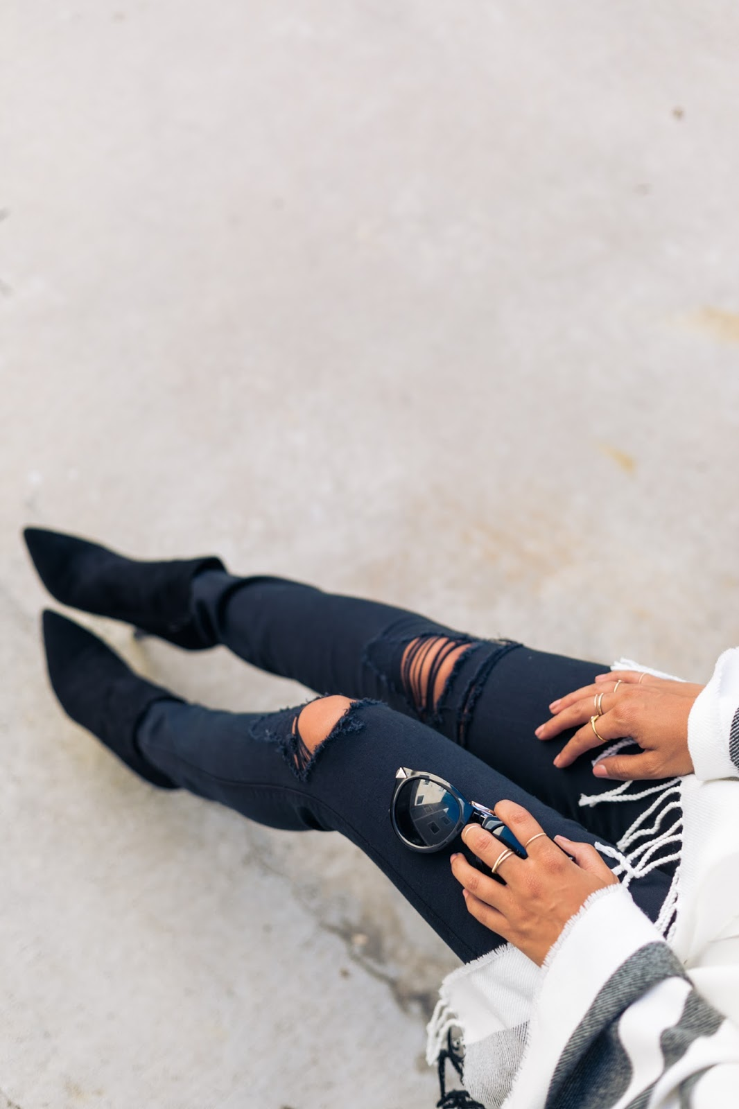 how to wear black boots, styling ponchos, fall fashion, pursuit of shoes