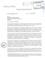 Agosto 2011: Defensoría propone al Ejecutivo agenda prioritaria en materia de reparaciones