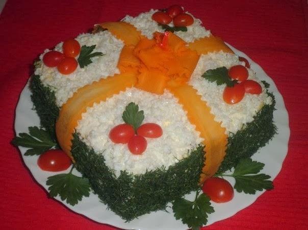 Салат подарок с фото пошагово 25