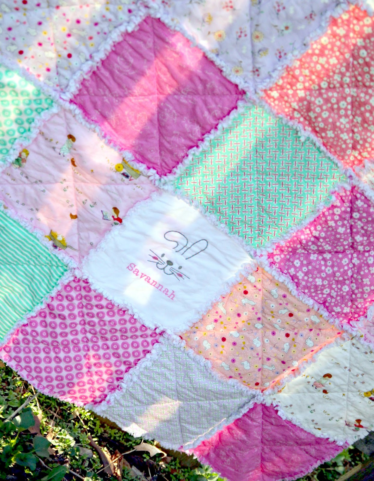 Some Bunny Loves You Easy Rag Quilt Tutorial The Cottage Mama