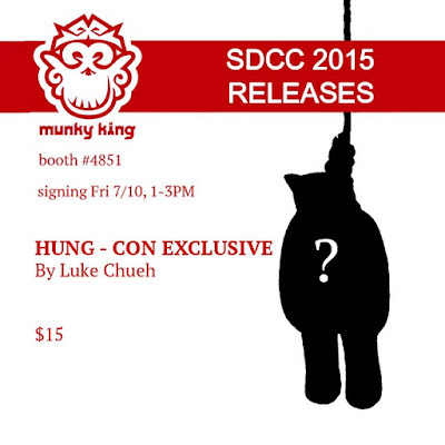 "San Diego Comic-Con 2015 Exclusive ""Gold"" Hung Vinyl Figure Zipper Pull by Luke Chueh & Munky King"