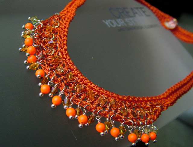 Swarovski Neon - Wire Crochet Necklace