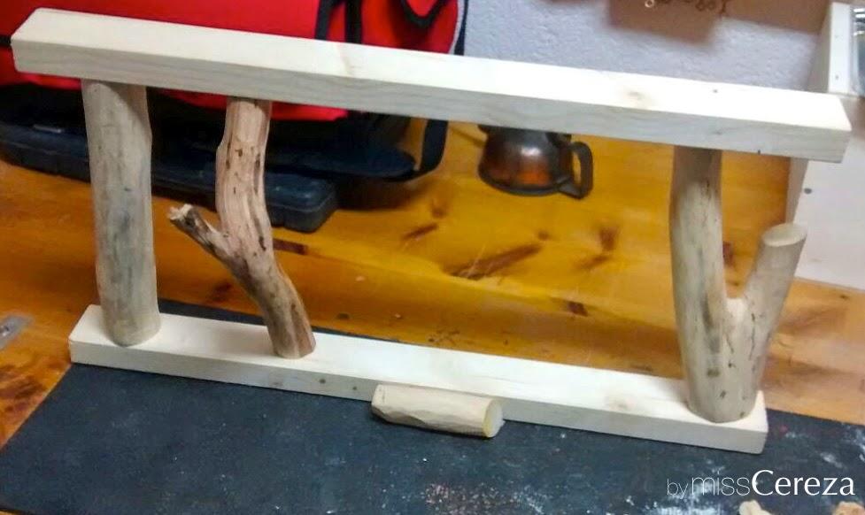 como se hace un colgador de madera