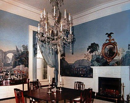 Murals an american housewife for Mural room white house