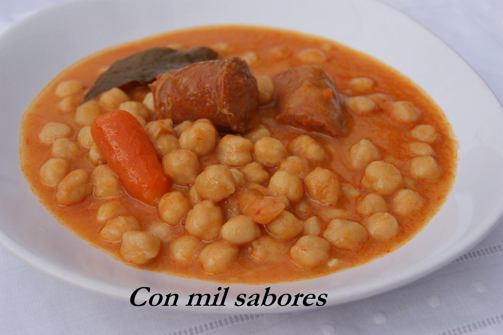 Con mil sabores potaje de garbanzos tradicional - Potaje de garbanzos y judias ...
