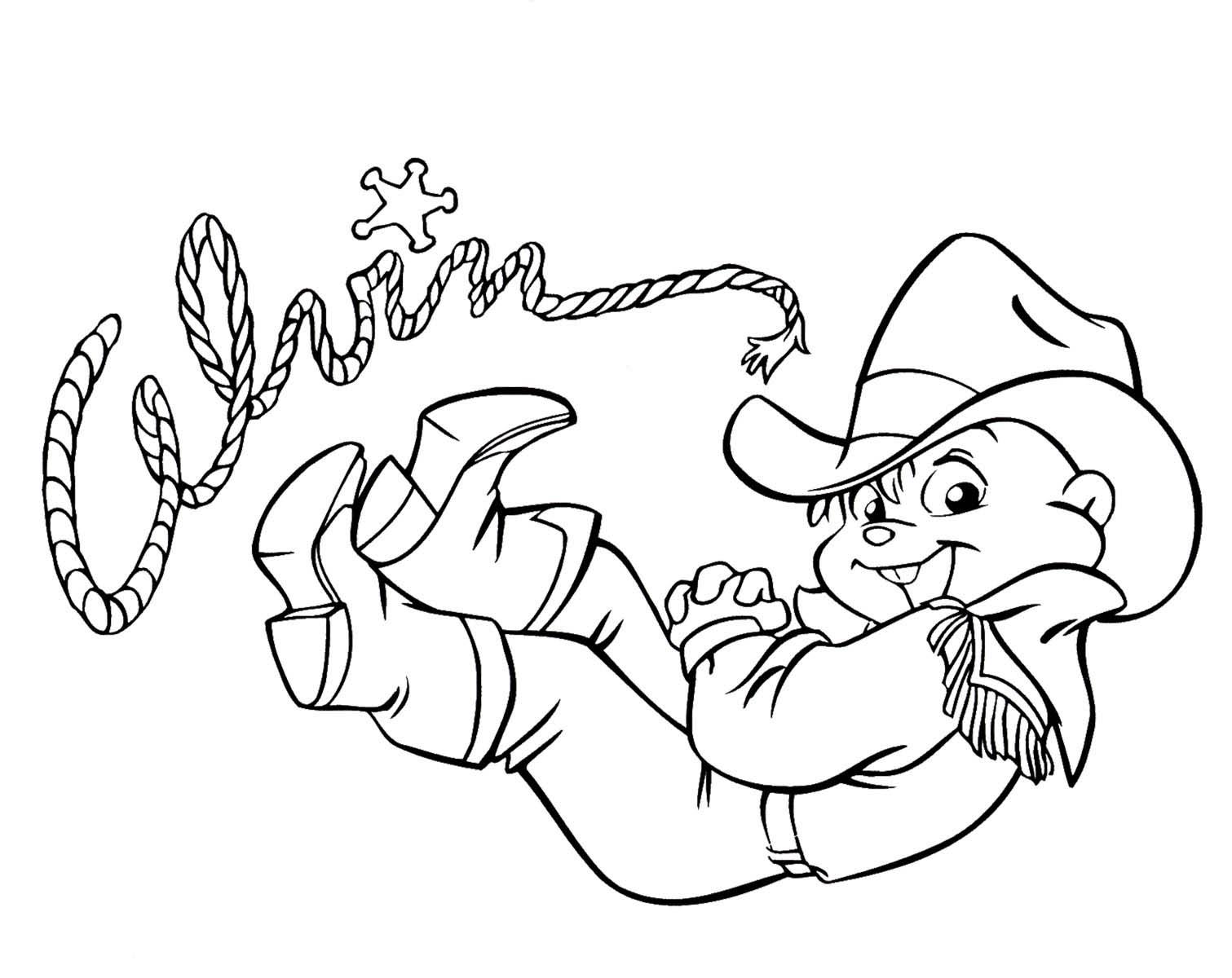 Dibujos animados para colorear: Alvin y las Ardillas para colorear
