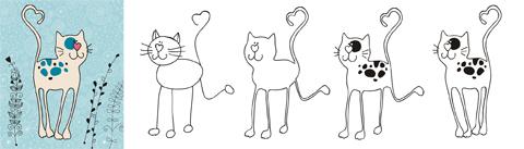 Изменения котика-длинноножки