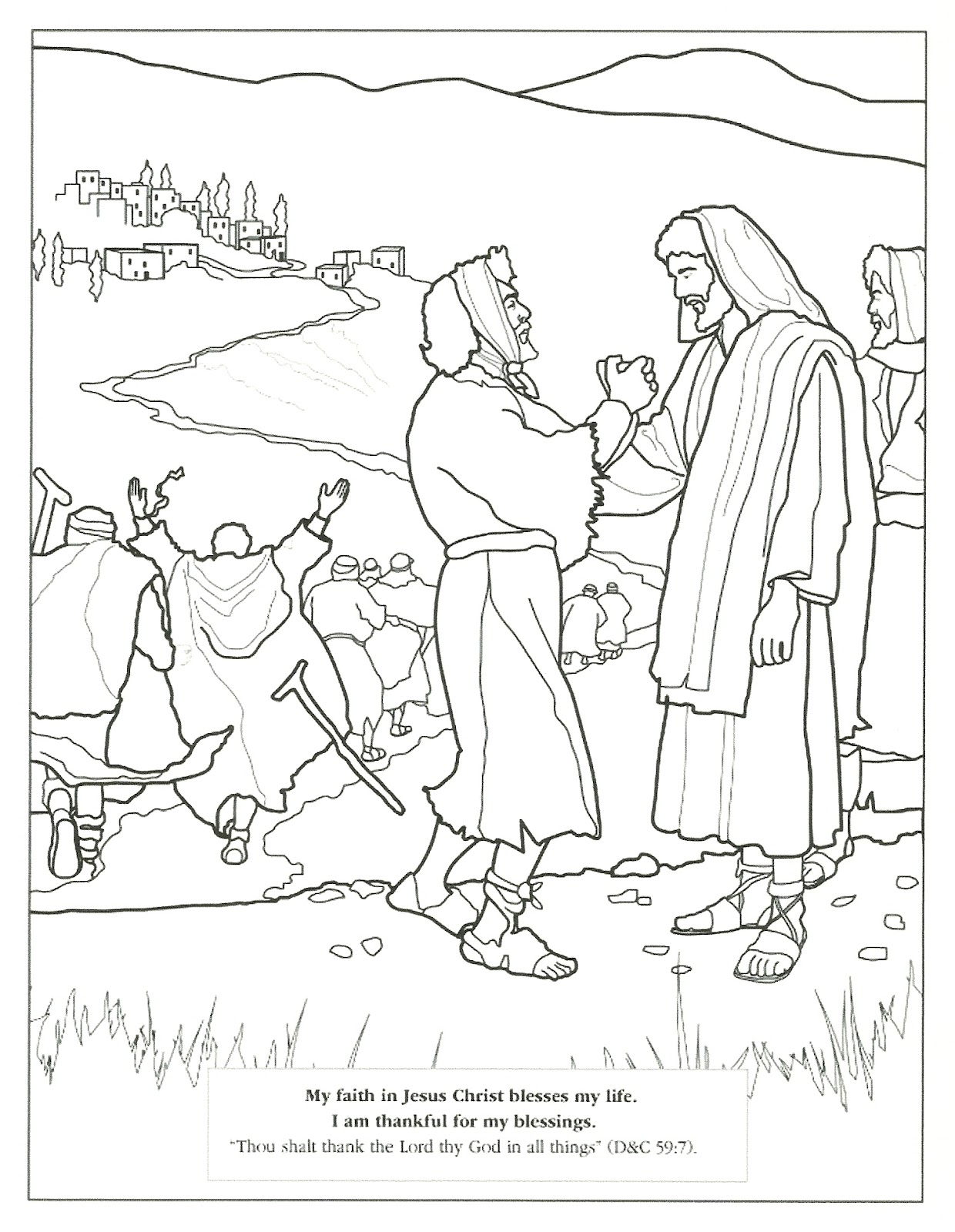 naaman bible coloring pages - photo #26