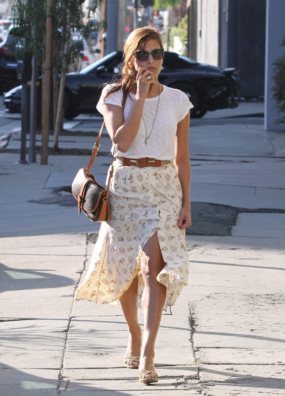 Eva Mendes out in Los Angeles on a sunny day