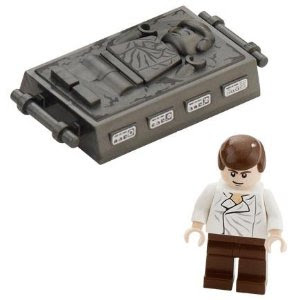 Lego carbonite Han Solo and minifig