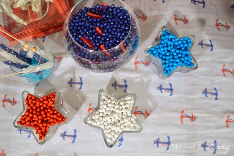 How to create a nautical patriotic table star bowls and candy