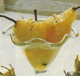 Receta Peras dulces al Jugo