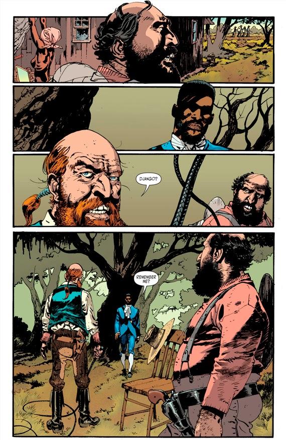 Pagina del cómic de Django Desencadenado