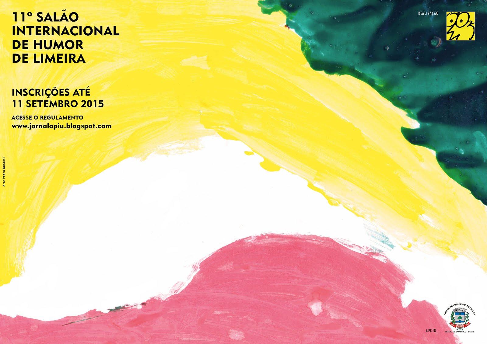 CARTAZ DO 11º SALÃO INTERNACIONAL DE HUMOR DE LIMEIRA