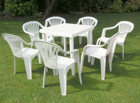 Spiral style spring cleaning with magic erasers Cheap plastic patio furniture