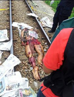 Gambar Ngeri Dilanggar Keretapi Di Kuala Krai