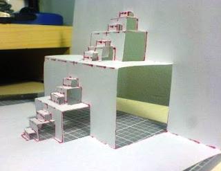 Tangga dan Bangun 3 Dimensi dari Kertas