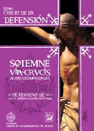 cartel via-crucis union de hermandades de jerez 2013