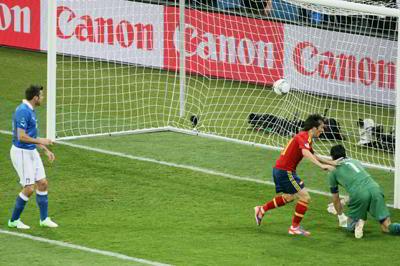 Фото Укринформ:гол в ворота итальянцев