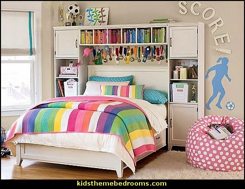 Gentil Girls Sports Themed Bedroom Decorating Ideas   Sports Bedding   Sports  Bedrooms   Girls Rooms Sports