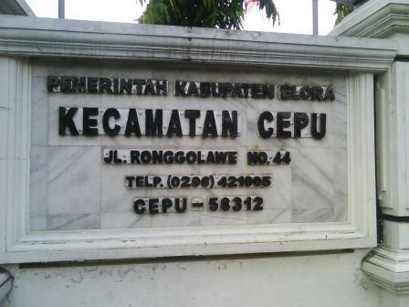 cepu office, kantor kecamatan cepu, alamat kantor kecamaan cepu