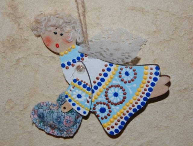 Angel Ornament Handmade in Ternopil, West Ukraine