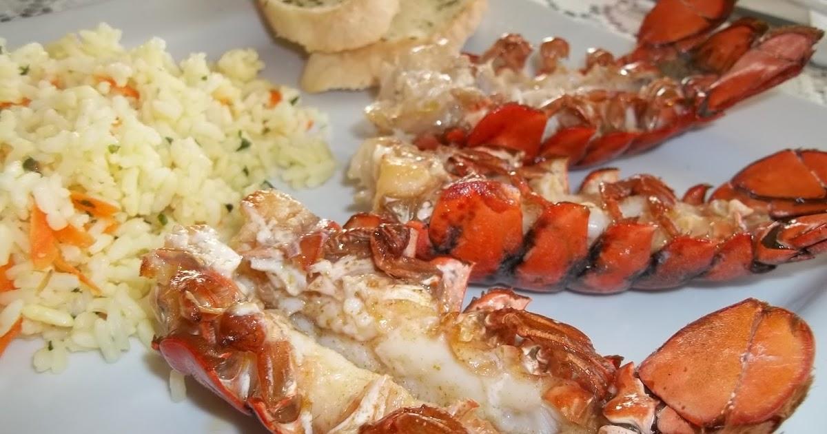 Dans mon frigo queues de homard grill es au four - Queues de langoustes grillees au four ...