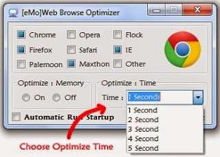 [eMo]Web Browser Optimizer Time optimization screenshot