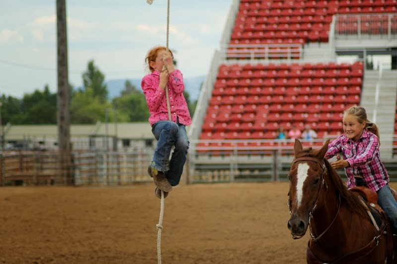 little monkey on a rope - Sheridan Elk's Youth Rodeo 2013