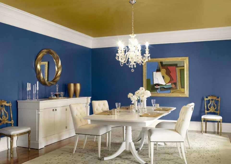 Antique Blue Dining Room Painting Ideas
