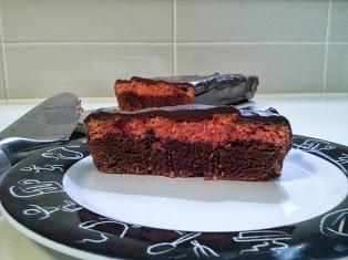 cherry ripe brownie bar