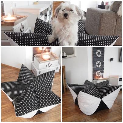 fr ulein einzigartig sternen bodenkissen. Black Bedroom Furniture Sets. Home Design Ideas