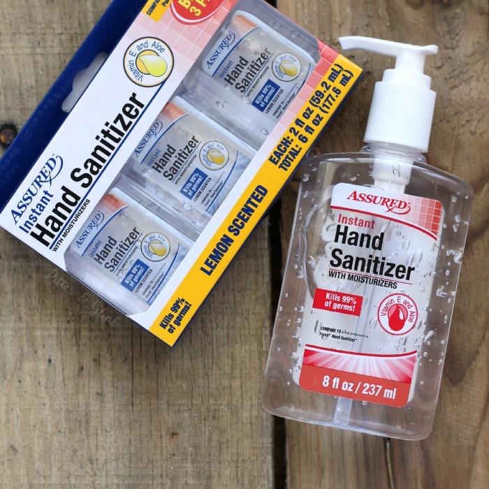 Monogram dollar store hand sanitizer for the perfect teacher's gift. www.pitterandglink.com