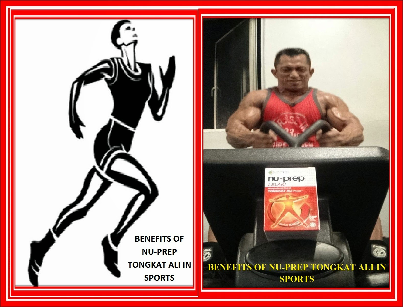 Benefits of Nu-Prep Tongkat Ali in Sports.