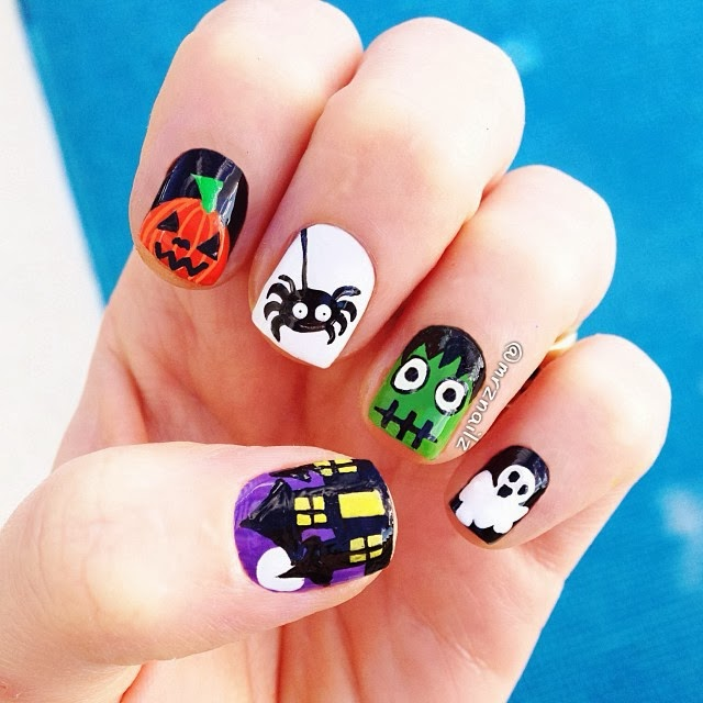 My Top 10 And Top 5 Nail Artists Who: Best Nail Art Ideas For Halloween 2013