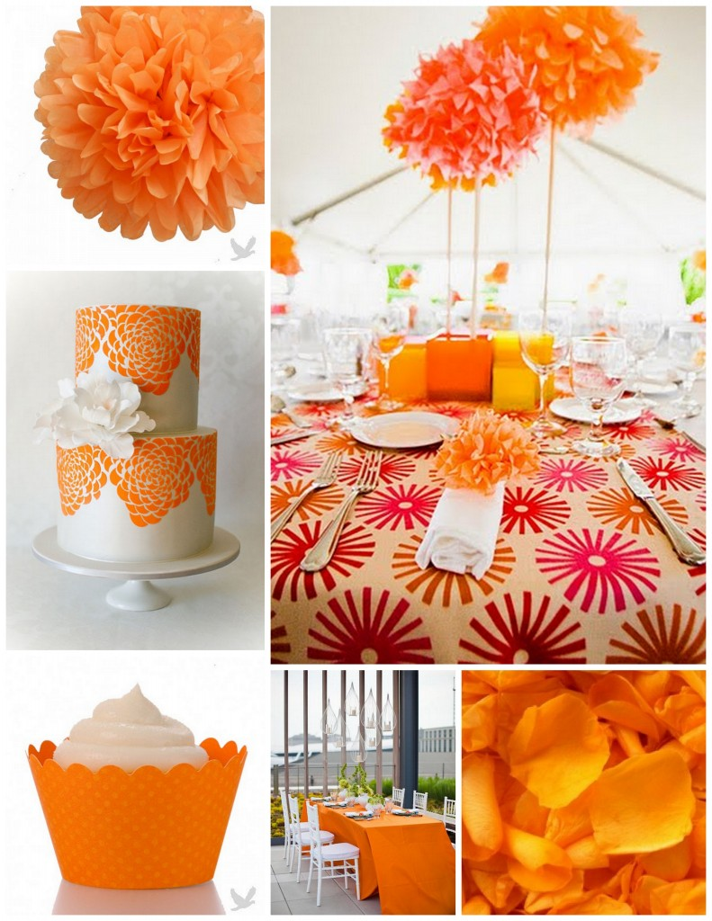 Custom Creations Party Place: Wedding Color Trend for 2012 ... Tangerine Tango Wedding